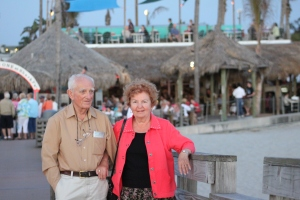 Vaclav & Ella on Sharky's Pier in Venice.