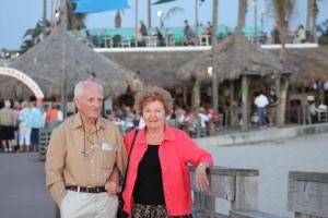 Vaclav & Ella on Sharky's Pier in Venice.