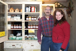 Paul Geer with Ruth Smiley on Frozen Creek Farm.