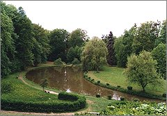 A castle park in Vizovice where a big part of my book takes place.