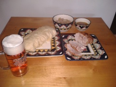 Czech festive fair, pork roast, sauerkraut, dumplings & golden lager.