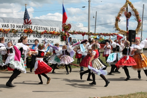 Czech dances in Bannister, MI in traditional costumes custom made in Czech and Slovak republics.