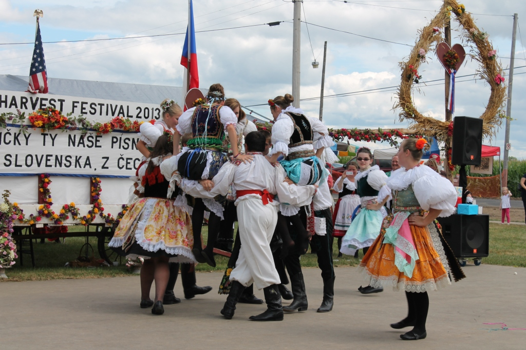 Costumed dancers at the Czech Harvest Festival in Bannister, MI.