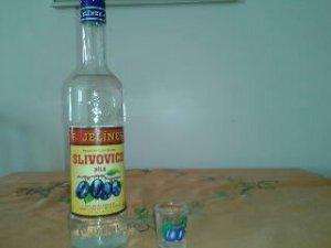 Classic plum brandy known as slivovice.