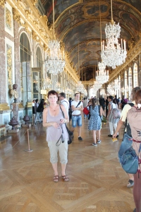 The Hall of Mirrors inside Versailles.
