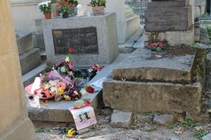 Jim Morrison's grave at Pere Lachaise in Paris.