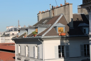 View from hotel de Globe in Paris.