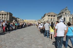 Waiting to get in-Versailles Palace