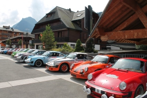 Born to win in Morzine mountain rally.
