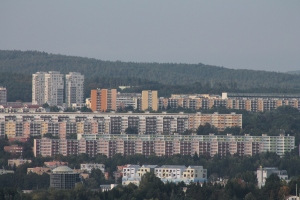 Socialist successes- apartment mega complexes that surround Brno.