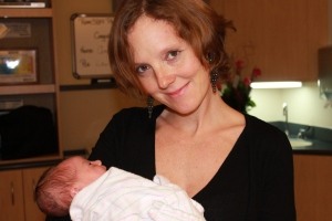 Godmother Emma Palova-Chavent with newest member Josephine Marie Palova