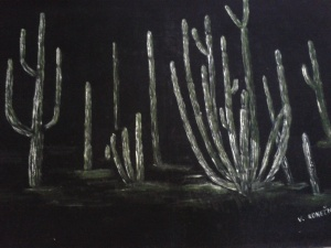 Saguaro forest immortalized by Vaclav Konecny