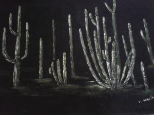 Saguaro forest immortalized by Vaclav Konecny