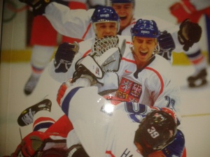 Winning Czech hockey team in Nagano 1998