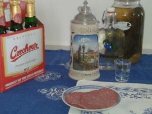 A true CzechAmerican treat Budweiser in a kriegel.