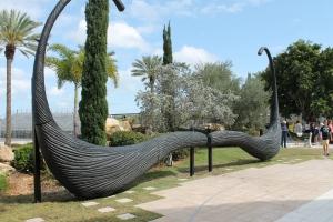 A sculpture depicting Dali's overexaggerated mustache
