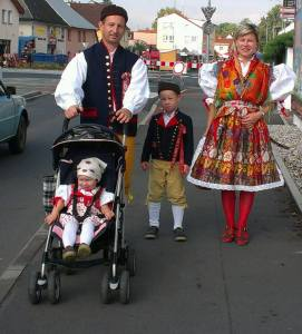 Traditional Czech festive costumes.