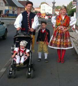 Traditional Czech festive costumes.