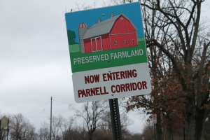 Preserved farmland in northeast Kent County