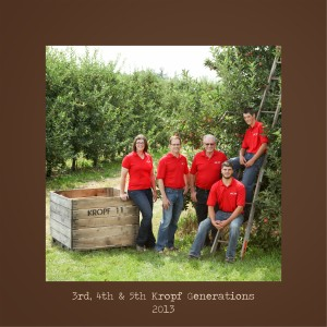 Three generations of Kropf apple farmers in Michigan