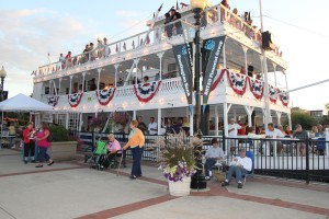 Lowell Showboat decked out for July 4th