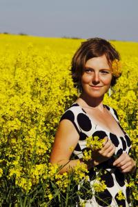 Emma Palova-Chavent in the Burgundy fields