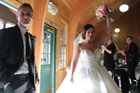 Mr. Jakub Pala and Mrs. Maranda Palova enter the Wabasis Lodge