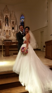 Mr. Pala and Mrs. Palova at Saint Patrick Church in Parnell