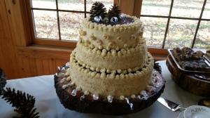 Three-tier wedding cake by CJ Aunt Jarmilka