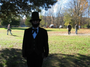 Abraham Lincoln impersonator at Bowens Mills