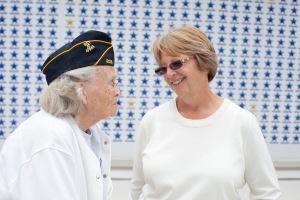 Lynn Mason speaks with veteran Juanita Woodward on her 2014 campaign trail