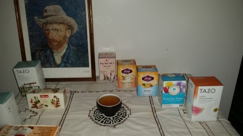 Healing teas and VanGogh's self-portrait
