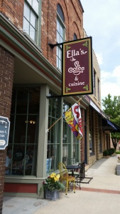 Ella's is located close to Riverwalk at 307 E. Main.