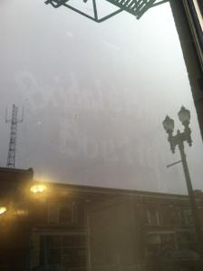 Fogged up Bridal & Princess Boutique words.