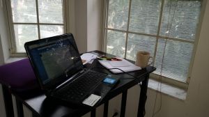 My writing station in St. Petersburg.