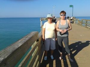Mom Ella with me on the Venice peer, 2014.