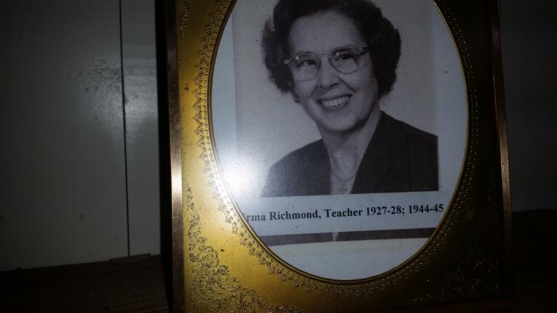 Fallasburg one-room schoolhouse teacher Mrs. Irma Richmond